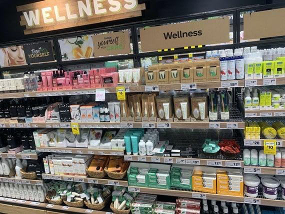 Woolworths FMCG Wellness shelve