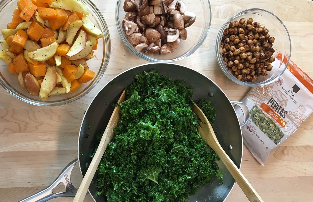 kale salad in home usage test