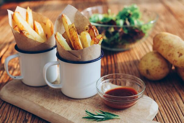 snacking on hot chips FMCG 2020